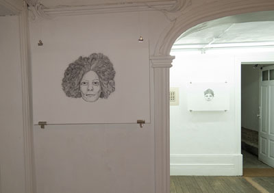 Two Faces by Cally Trench in Surfaces: Works on Paper at Spu+Nik Gallery, Porto