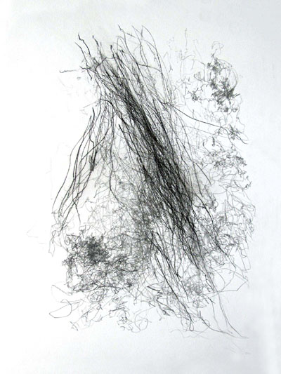 Jane Grisewood, Mapping Blindfold Slip II (16 October 2010), graphite and carbon on paper