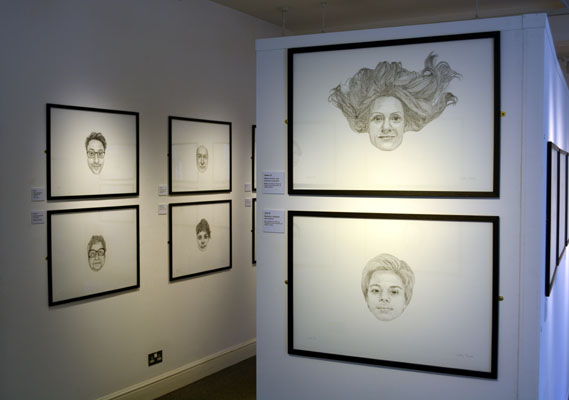 Faces by Cally Trench at Buckinghamshire County Museum