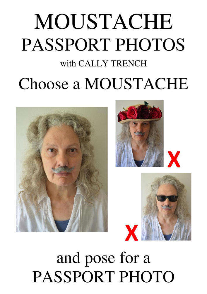 Moustache Passport Photos poster by  Cally Trench