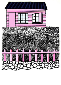 Pink House by  Cally Trench