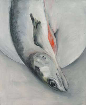 Salmon 1 by Beverley Matchette-Downes