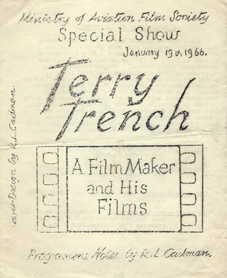 Programme for a Terry Trench: 'A Film Maker and His Films', 1966
