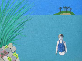 Cally Trench: The Blue Swimming Costume and other paintings
